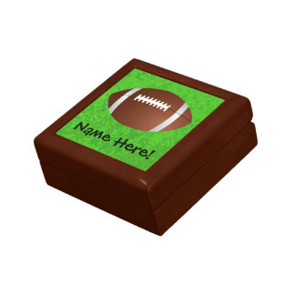 Football Field Junior Varsity Small Square Gift Box