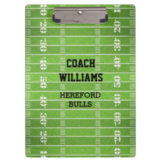 Football Field Personalized Clipboards