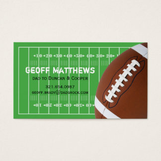 Football Field Play Date Card