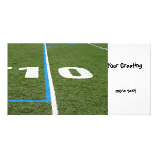 Football Field Ten Personalized Photo Card