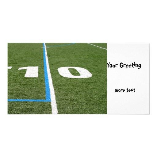 Football Field Ten Personalized Photo Card