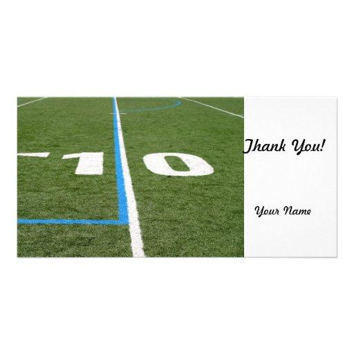Football Field Ten Photo Card Template