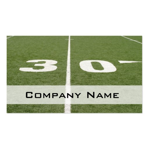 Football Field Thirty Business Card