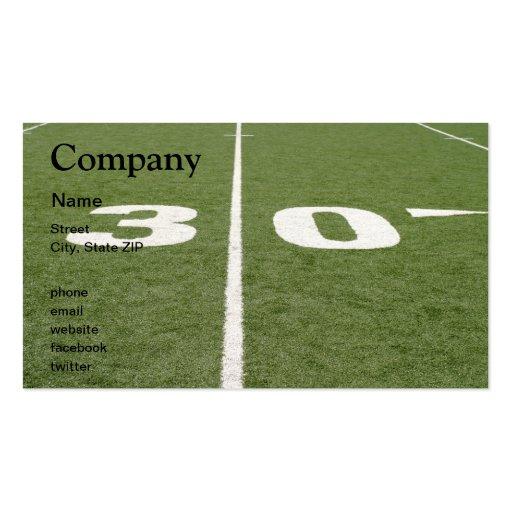 Football Field Thirty Business Card Template