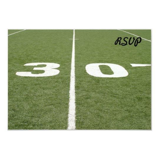 Football Field Thirty Card