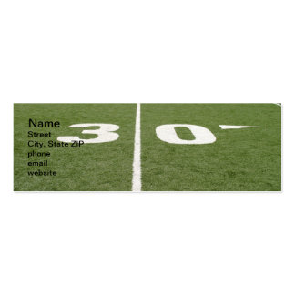 Football Field Thirty Pack Of Skinny Business Cards