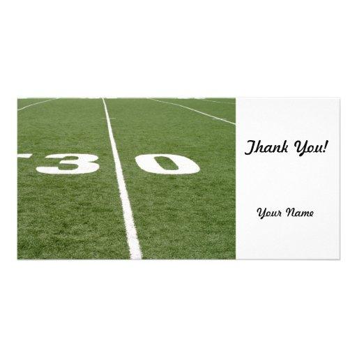Football Field Thirty Photo Card Template