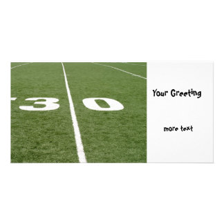 Football Field Thirty Photo Card Template