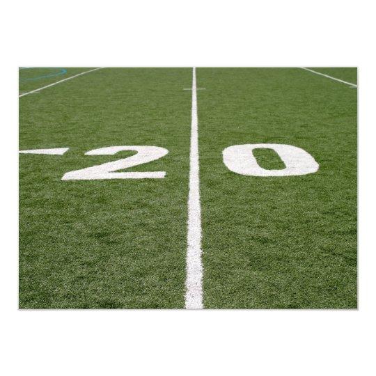 Football Field Twenty Card