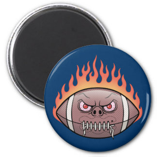 Football - Flames Refrigerator Magnets