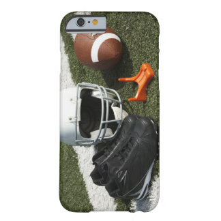 Football, football helmet, tee and shoes on barely there iPhone 6 case
