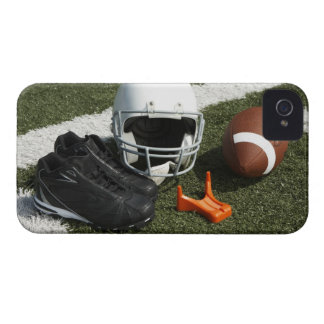 Football, football helmet, tee and shoes on Case-Mate iPhone 4 cases