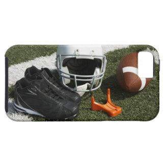 Football, football helmet, tee and shoes on iPhone 5 case