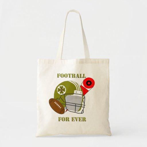 Football for ever budget tote bag
