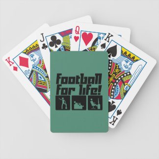 Football for life! bicycle playing cards