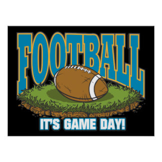 Football Game Day Poster