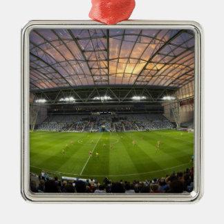Football game, Forsyth Barr Stadium, Dunedin Silver-Colored Square Decoration