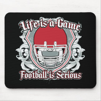 Football Game Red Mouse Pads