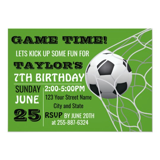 Football Game time Birthday invitation card