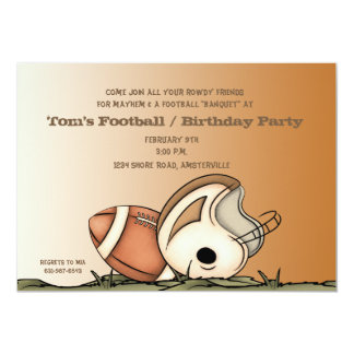 Football Gear - Party Invitation