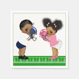 Football Gender Reveal Baby Shower Paper Napkins