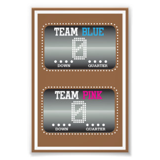 Football Gender Reveal Matching Photo Print