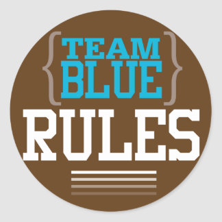Football Gender Reveal Team Blue Stickers