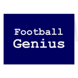 Football Genius Gifts Greeting Card