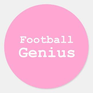 Football Genius Gifts Round Sticker
