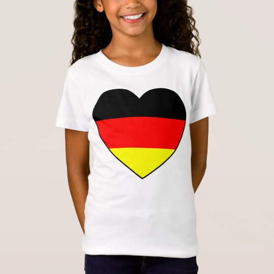 Football Germany heart flag favorable T-Shirt