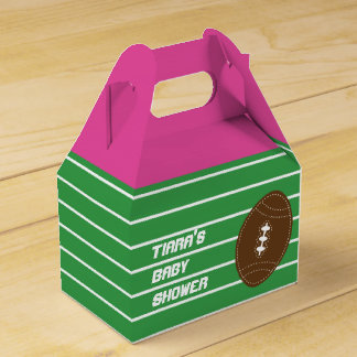 Football Girls Pink Birthday Party Favor Boxes Wedding Favour Boxes