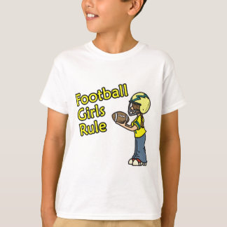 Football girls rule! tshirts