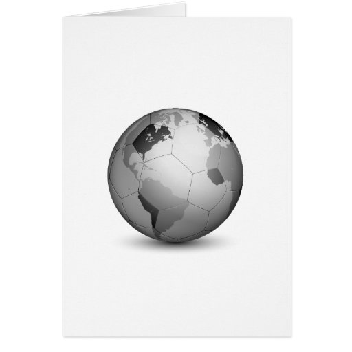 Football Globe_2 Greeting Cards