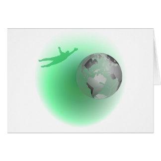 Football Globe Greeting Card