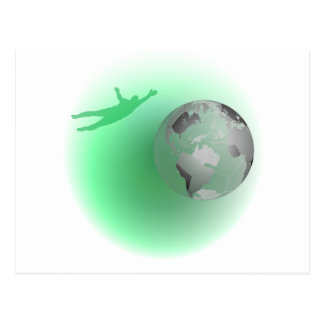 Football Globe Postcards