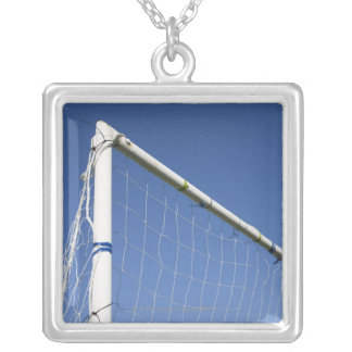 Football goal 2 silver plated necklace