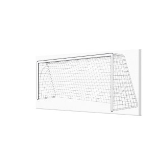 Football goal 3 canvas print