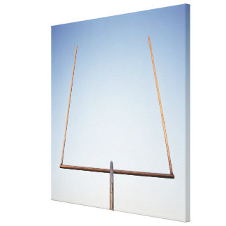 Football goal post canvas print