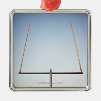 Football goal post Silver-Colored square decoration