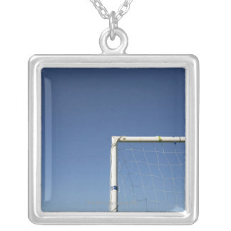 Football Goal Silver Plated Necklace