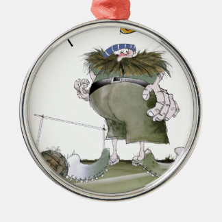 football goalkeeper 'blues' christmas ornament