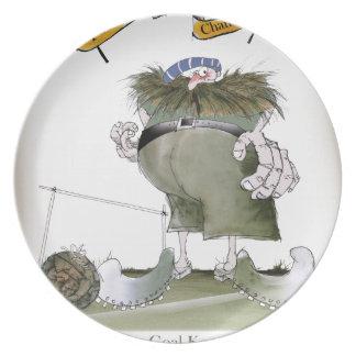 football goalkeeper 'blues' plate