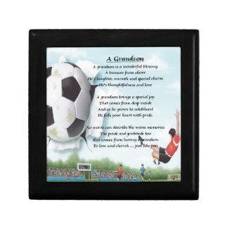 Football   Grandson Poem Gift Box