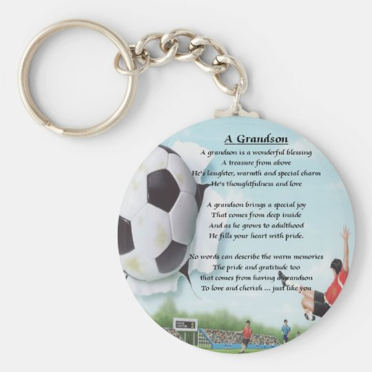 Football Grandson Poem Key Ring