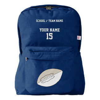 FOOTBALL(grey- School or Team Backpack - Customize