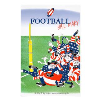 Football 'hail mary pass', tony fernandes custom stationery