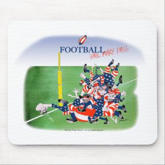 Football 'hail mary pass', tony fernandes mouse pad
