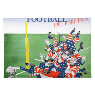 Football hail mary pass, tony fernandes place mat