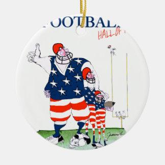 Football hall of fame, tony fernandes round ceramic decoration