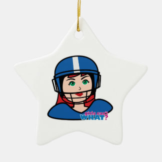 Football Head Light/Red Christmas Ornament